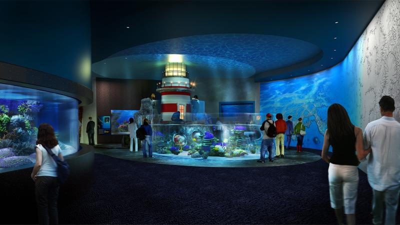 Cube Oceanarium Chengdu China Lighthouse