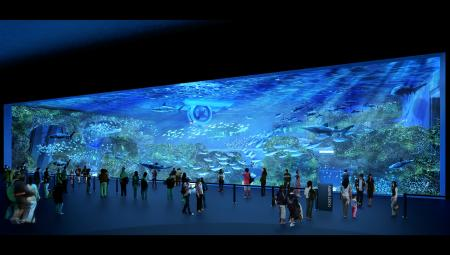 Cube Oceanarium Chengdu China Main Tank Render