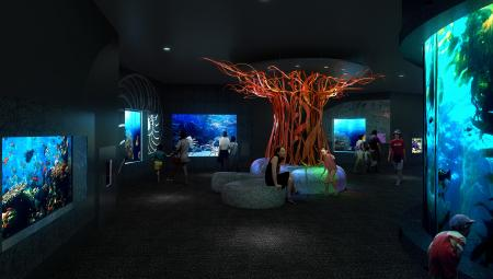 Cube Oceanarium Chengdu China Cold Seas Render