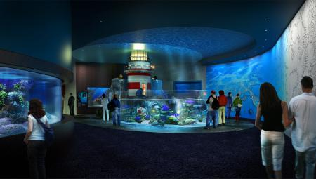 Cube Oceanarium Chengdu China Lighthouse Render