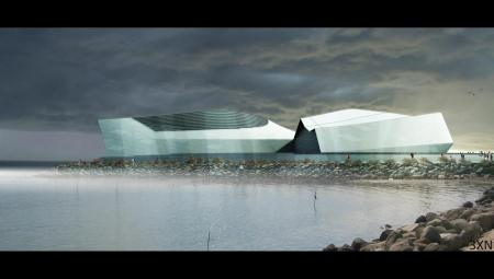 Den Blå Planet Aquarium Render