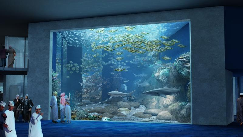 Aquarium of Oman Main Panel Visualisation